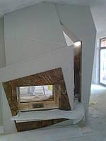 Реализованный проект камина на мансарде
