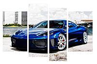 Модульная картина Декор Карпаты 110х70 см Машина, КОД: 184457
