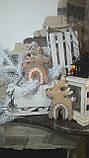 Стильный новогодний олень, ручная работа, выс. 16 см., 115/85 (цена за 1 шт. + 30 гр.), фото 2