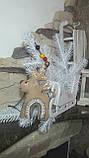 Стильный новогодний олень, ручная работа, выс. 16 см., 115/85 (цена за 1 шт. + 30 гр.), фото 4