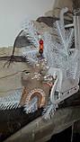 Стильный новогодний олень, ручная работа, выс. 16 см., 115/85 (цена за 1 шт. + 30 гр.), фото 5
