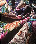 Цветочные бусы 1797-15, павлопосадский платок шерстяной  с шелковой бахромой, фото 7