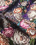 Цветочные бусы 1797-15, павлопосадский платок шерстяной  с шелковой бахромой, фото 9