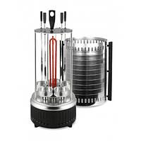 Электрошашлычница вертикальная на 5 шампуров, шашлычница электрическая для дома