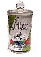 Чай зеленый с кусочками малины, черники и клубники Tarlton Wonder Berry 160 в стеклянной банке