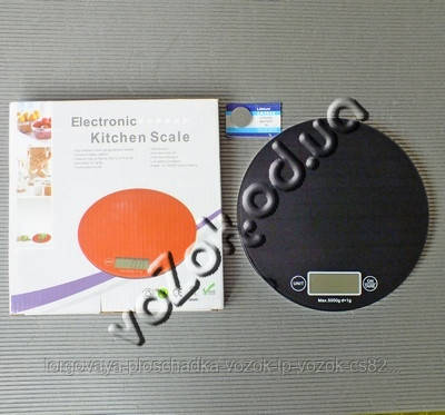 Весы кухонные электронные стеклянные круглые до 5 кг Electronic Kitchen Scale