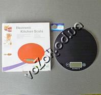 Весы кухонные электронные стеклянные круглые до 5 кг Electronic Kitchen Scale, фото 1
