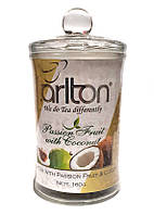 Чай черный с кусочками маракуйи и кокоса Tarlton Passion Fruit with Coconut 160 в стеклянной банке