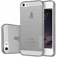 TPU чехол Nillkin Nature Series для Apple iPhone 5/5S/SE (Серый (прозрачный)) 48942