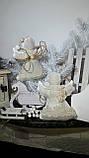 Рождественский ангел с пожеланиями, ручная работа, натуральный лен, выс. 16 см., 95/80 (цена за 1 шт. + 15 гр), фото 2