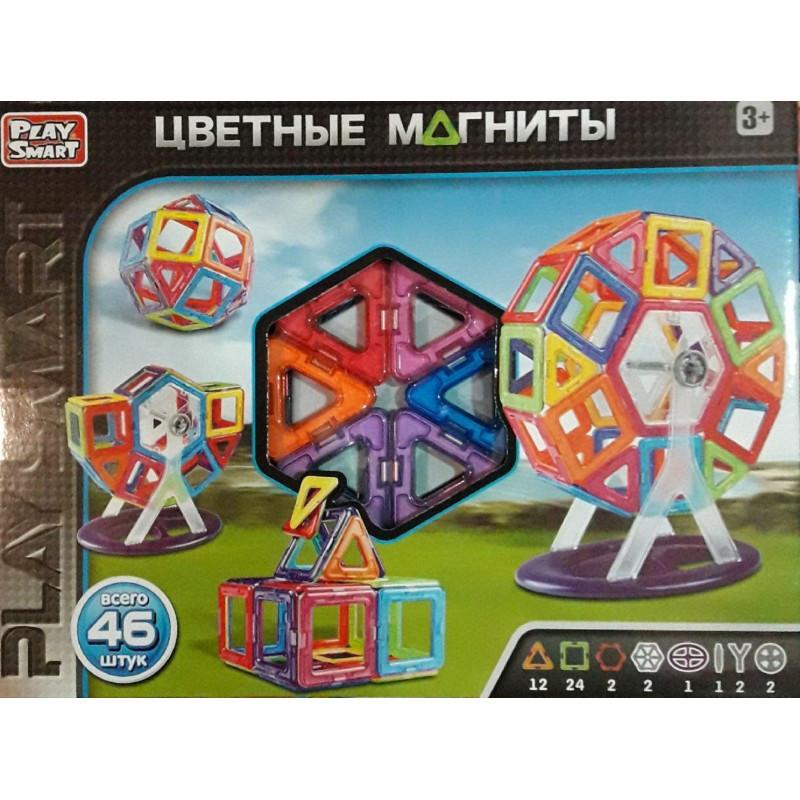 Магнитный конструктор PlaySmart 2430 46 деталей