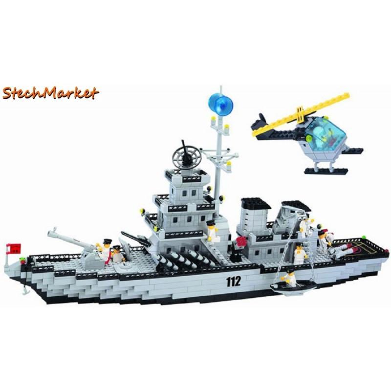 Конструктор «Военный корабль» 112 Brick 970 деталей