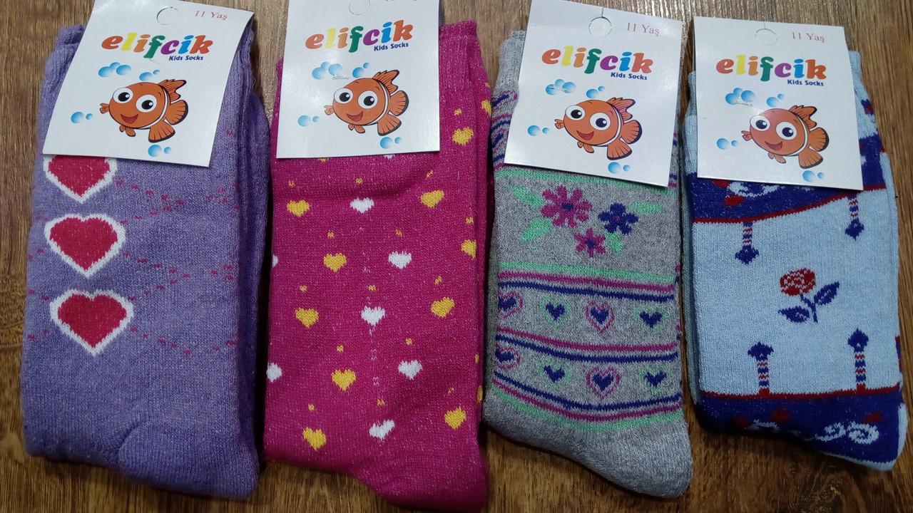 """Детские махровые носки """"Elifcir"""" Турция,девочка"""