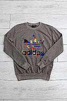 Батник мужской двухнитка бежевый Adidas 0264