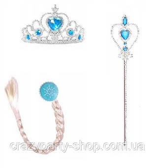 Набор Эльза Холодное сердце  корона , палочка, косичка