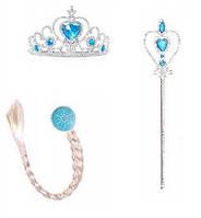 Набор Эльза Холодное сердце  корона , палочка, косичка, фото 1