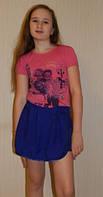 Юбка-шорты летняя для девочки, Киев. Яркий подарок на лето, фото 1