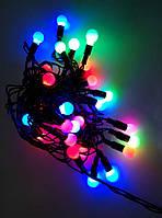 Гірлянда №F-28-2 (R-15) чорн.шнур/28 LED ламп маленьких/ШАРІК/5м/3кол.10567
