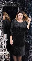 Платье LeNata-11814/3 белорусский трикотаж, черный, 50