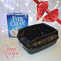 Ever Clean 10л наполнитель  из глины и туалет Trixie Delio