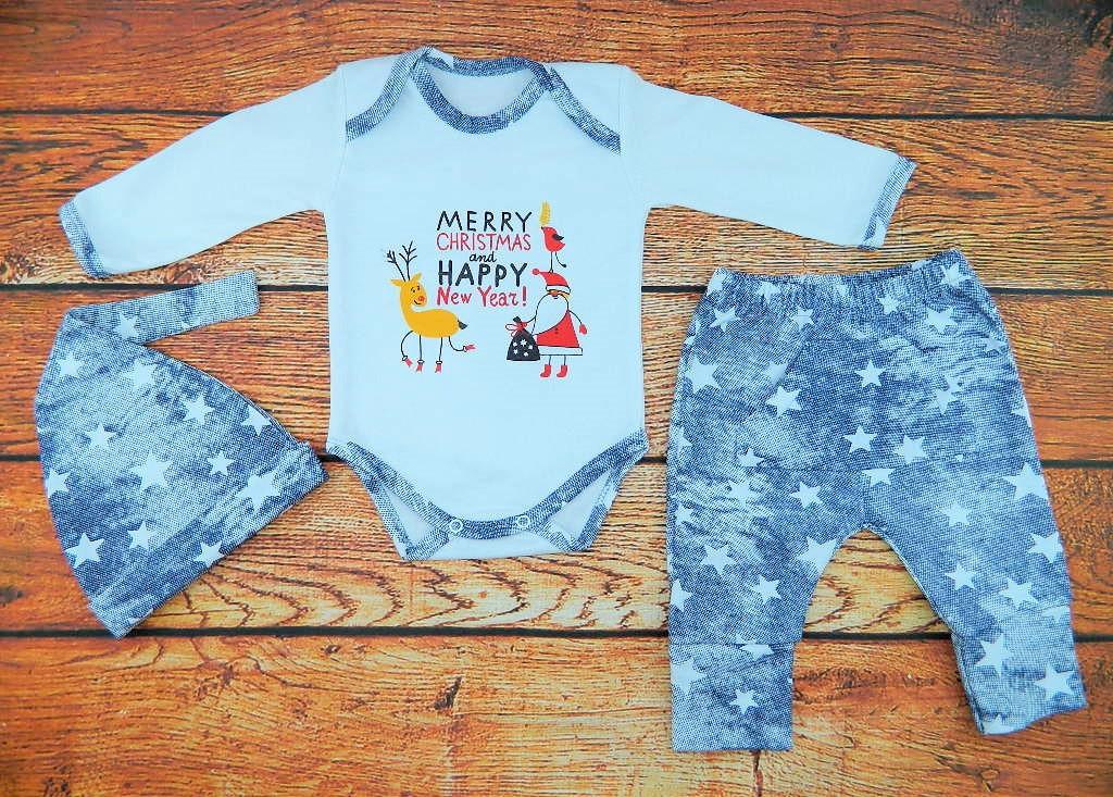 Новогодний костюм для новорожденного на рост 56 см