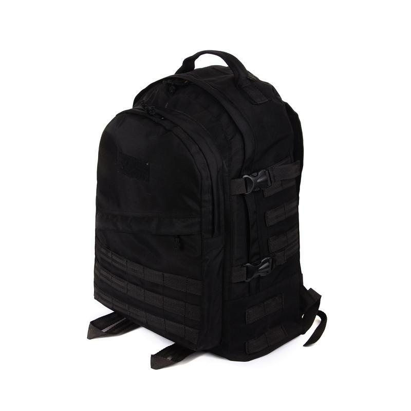 Тактический походный супер-крепкий рюкзак с органайзером 40 литров чёрный. Оксфорд 1200 ден
