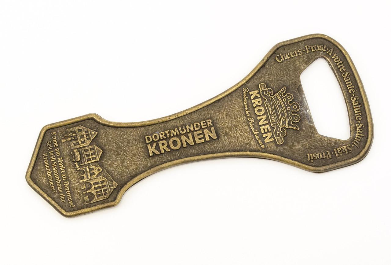 Коллекционная бронзовая открывалка, бронза, литье, Германия, DORTMUNDER KRONEN
