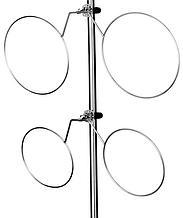 Нержавіючий подвійний тримач кранцев складаний