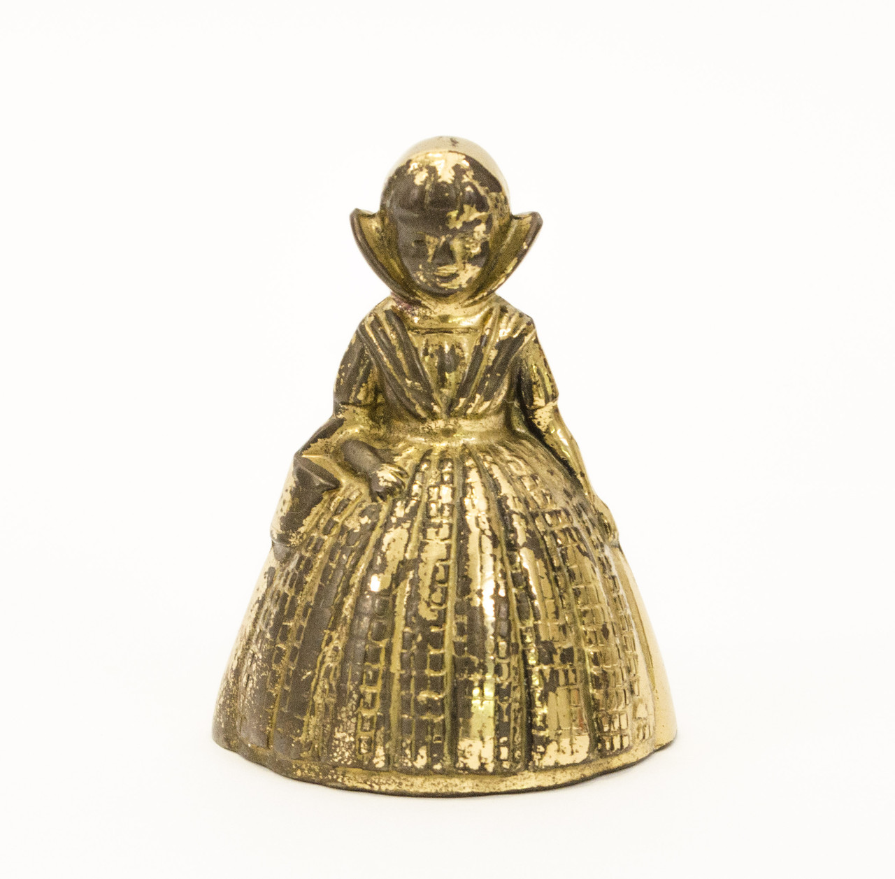Старый бронзовый колокольчик, девочка, бронза, Англия