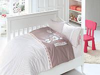 Нежное постельное в детскую кроватку из бамбука
