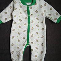 Детский человечек комбинезон для новорожденного Вафелька на 0, 3, 6 мес, фото 1