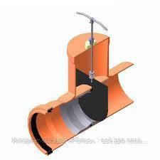 Шиберная задвижка Ø250 с раструбом и уплотнительным кольцом для канализации
