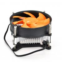 Кулер процессорный LGA 775/1156/1155/i3/i5 2200prm 220gr-Heatsink (up to I7 Cpu), 92-mm, 3-pin, orange