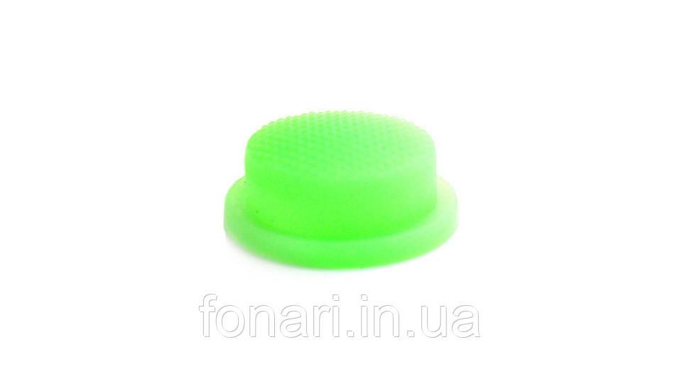 Кнопка люминесцентная зеленая 15 мм.