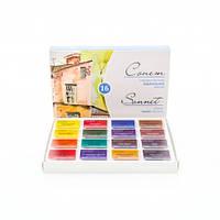 Набор акварельных красок Сонет 16 цветов, 2,5 мл., кюветы, к/к ЗХК