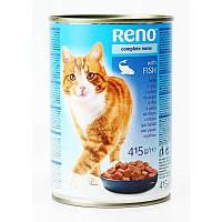 Влажный корм для котов Reno с рыбой 415 г