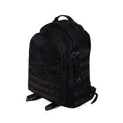Тактический походный супер-крепкий рюкзак с органайзером 40 литров чёрный +ПОЯСНОЙ РЕМЕНЬ Кордура 900 ден