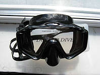Маска для подводной охоты и плавания Black широкообзорная