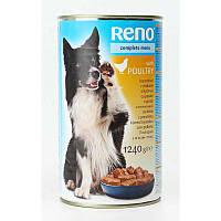 Влажный корм для собак Reno с мясом птицы 1240 г