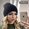 Зимняя вязаная женская шапка, фото 2