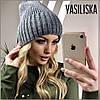 Зимняя вязаная женская шапка, фото 6