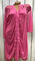 Комплект женской домашней одежды халат и пеньюар