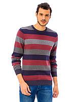 Мужской свитер LC Waikiki / ЛС Вайкики в красную, синюю и серую полоску, фото 1