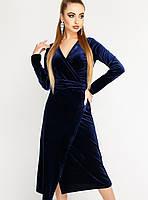 Женское велюровое платье-халат (Франческа leо)