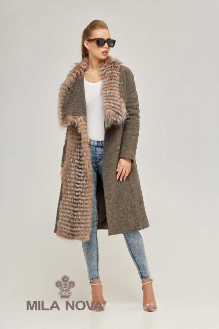 Женское пальто  капучино