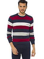 Мужской свитер LC Waikiki / ЛС Вайкики в красную, белую и серую полоску, фото 1