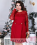 Лаконичное приталенное платье ТМ Минова раз. 50-60, фото 3