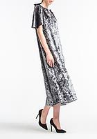 Платье aLOT с бантами 36 Серое, КОД: 268635