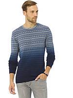 Мужской свитер LC Waikiki / ЛС Вайкики с узором и переходом из голубого в синий, фото 1