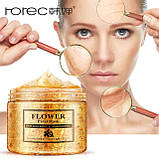 Питательная маска для лица с экстрактом и лепестками Золотого Османтуса Rorec petal mask140g, фото 2